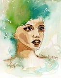 Красивая женщина иллюстрация штока