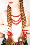 Красивая застенчивая женщина молодых людей Стоковое Фото