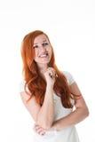 Красивая задумчивая молодая женщина Стоковая Фотография RF