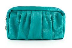 Красивая зеленая кожаная сумка женщины  стоковое фото
