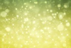Красивая зеленая праздничная предпосылка Стоковая Фотография RF