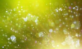 красивая зеленая праздничная предпосылка Стоковое Изображение RF