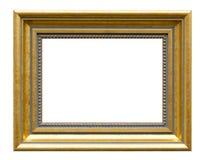 Красивая золотая картинная рамка - деревянная рамка Стоковое Изображение