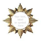 Красивая золотая рамка для текстового поля, товарного знака, символа или ярлыка Стоковые Изображения RF