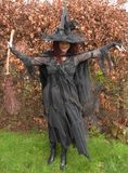 Красивая зрелая ведьма брюнет Стоковое фото RF