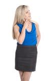 Красивая изолированная attraktive коммерсантка смотря косой стоковые изображения