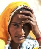 Красивая индийская дама Стоковые Фотографии RF