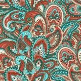 Красивая индийская флористическая печать орнамента Пейсли безшовная этническо бесплатная иллюстрация