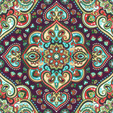 Красивая индийская флористическая печать орнамента Пейсли безшовная этническо иллюстрация штока