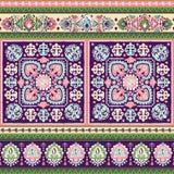 Красивая индийская флористическая печать орнамента Пейсли безшовная этническо иллюстрация вектора
