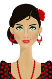 Красивая испанская женщина иллюстрация вектора