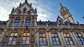 Красивая историческая архитектура в Gent Стоковое Изображение
