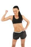 Красивая и атлетическая кавказская женщина Стоковое Изображение