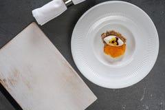 Красивая и вкусная изысканная еда стоковая фотография rf