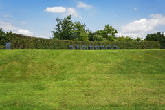 Красивая идея сада в модели садовничает Appeltern, Nederland Стоковая Фотография RF
