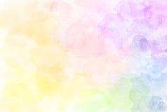 Красивая иллюстрация картины радуги акварели Watercolour t иллюстрация штока