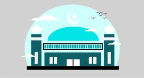 Красивая иллюстрация мечети Стоковая Фотография