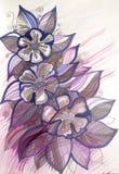 Красивая иллюстрация 3 цветков Стоковые Изображения
