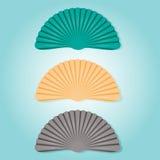 Красивая иллюстрация seashells Красочный символ моллюска изолированный на голубой предпосылке Стоковое Фото