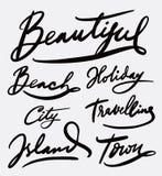 Красивая каллиграфия почерка Стоковое фото RF
