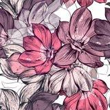 Красивая картина вектора с магнолией цветет заводы Идеал для иллюстрация штока