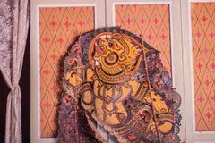 Красивая картина диаграммы марионетки тени Hanuman Wa марионетки Стоковые Изображения RF