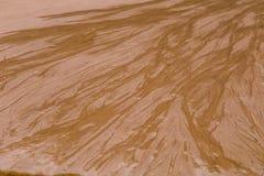 Красивая картина песка моря на пляже Текстура песка берега Балтийского моря Стоковая Фотография RF