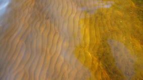 Красивая картина песка с отмелыми волнами реки сток-видео