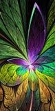 Красивая картина цветка в стиле витража пурпурово иллюстрация вектора