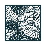 Красивая карточка с листьями пальмы Мотив дождевого леса Стоковое фото RF