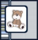 Красивая карточка с плюшевым медвежонком Стоковые Фотографии RF