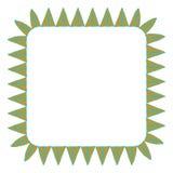 Красивая карточка с родными орнаментами зигзага Квадратная рамка для вашего текста Вручите вычерченный шаблон знамени с этническо иллюстрация вектора