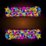 Красивая карточка торжества с красочным воздушным шаром Стоковые Фотографии RF