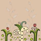 Красивая карточка флористического дизайна цвета Стоковые Фото