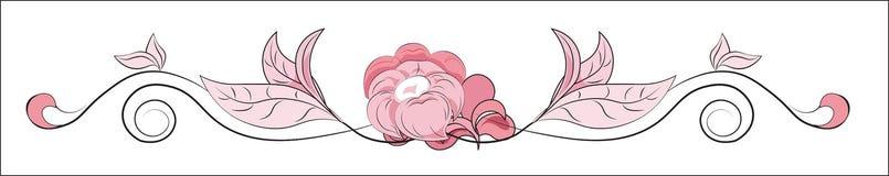 Красивая карточка цветка Стоковое Изображение
