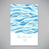 Красивая карточка для приглашения или объявления Стоковое Фото