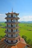 Красивая китайская архитектура в Таиланде Стоковые Изображения RF