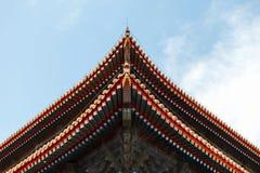 Красивая китайская крыша Стоковое фото RF