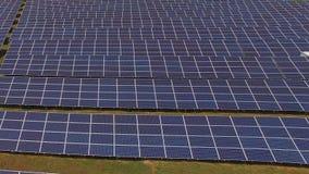Красивая консервация силы экологичности фермы панели солнечных батарей видеоматериал