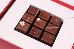 Красивая коробка шоколада стоковое изображение rf