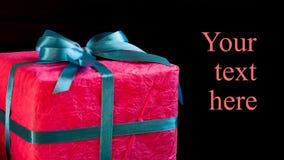 Красивая красная бумажная подарочная коробка Стоковое Изображение