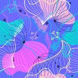 Красивая красочная абстрактная безшовная картина Предпосылка, текстура, ткань, ткань бесплатная иллюстрация