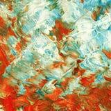 Красивая красочная абстрактная картина на холсте стоковое фото rf