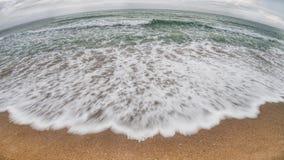 Красивая красочная волна моря стоковое фото