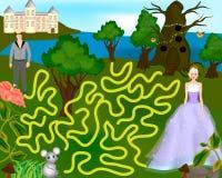 Красивая красочная игра для детей иллюстрация вектора