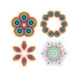 Красивая круговая картина для вашего дизайна Комплект круговых картин Стоковые Фото