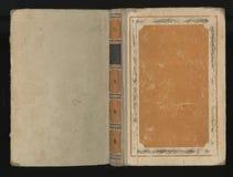 Красивая крышка винтажной книги с флористической рамкой пустой ярлык для вашего текста Стоковое фото RF