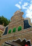 Красивая ладонь выходит орнаменты фестиваля tamilnadu, Индии стоковые изображения rf