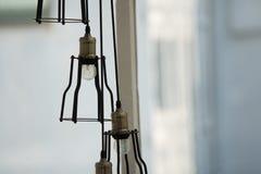 Красивая лампа в комнате стоковое изображение