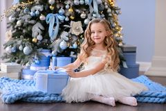 Красивая маленькая девочка в изумительном платье Стоковое Фото